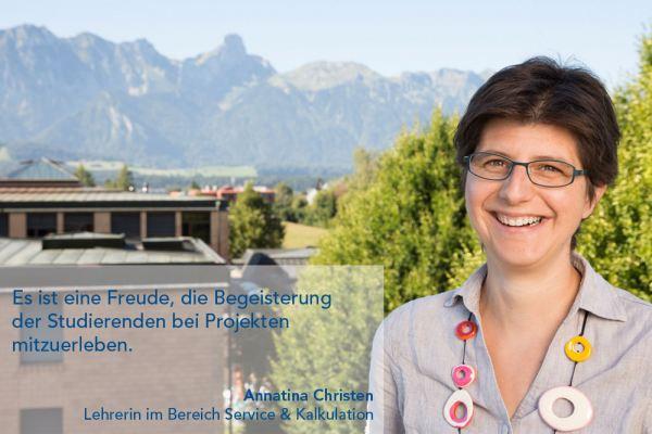 Annatina Christen – Lehrerin im Bereich Service & Kalkulation
