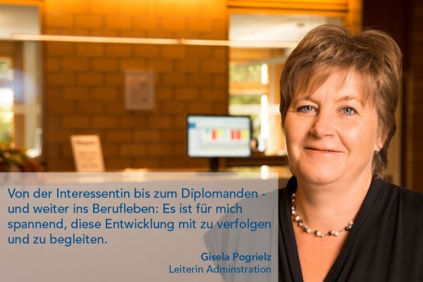 Gisela Pogrielz – Leiterin Administration